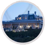 The Chanler At Cliff Walk Round Beach Towel