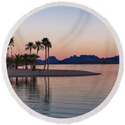 The Channel Round Beach Towel