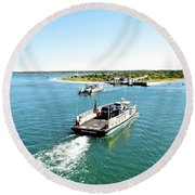 The Chappy Ferry Round Beach Towel