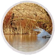 The Chase Is Over Round Beach Towel