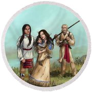 The Cherokee Years Round Beach Towel by Brandy Woods