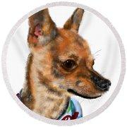 The Chihuahua Round Beach Towel