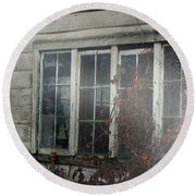 The Child At The Window Round Beach Towel