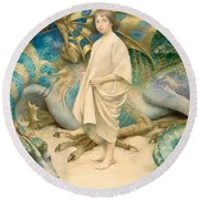 The Child In The World Round Beach Towel