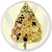 The Children Tree Round Beach Towel