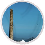 The Chimney Of Alcatraz Round Beach Towel