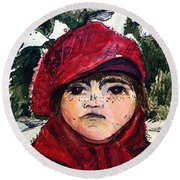 The Christmas Dreamer Round Beach Towel by Mindy Newman