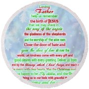 The Christmas Prayer Round Beach Towel