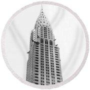 The Chrysler Building Round Beach Towel