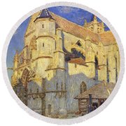 The Church At Moret Round Beach Towel