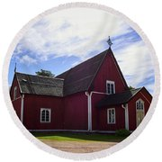 The Church Of Kustavi Round Beach Towel