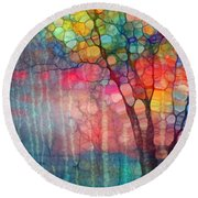 The Circus Tree Round Beach Towel