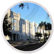 The Citadel In Charleston IIi Round Beach Towel