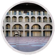 The Citadel In Charleston Iv Round Beach Towel