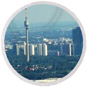 The City Of Vienna Austria Round Beach Towel