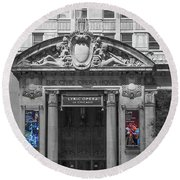 The Civic Opera House Round Beach Towel