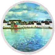 The Claddagh Galway Round Beach Towel
