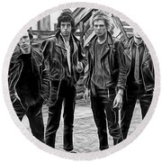 The Clash Collection Round Beach Towel