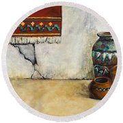 The Clay Pots Round Beach Towel