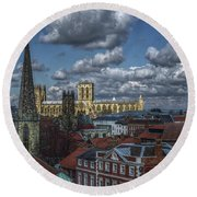 The Clifford Tower View Round Beach Towel
