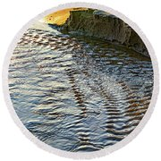 The Cliffs Of Sauble Round Beach Towel