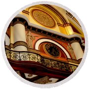 The Clock In The Union Station Nashville Round Beach Towel
