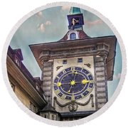 The Clock Of Clocks Round Beach Towel