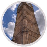 The Clock Tower Round Beach Towel
