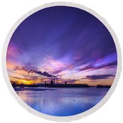 The Cloud Factory 2 Round Beach Towel