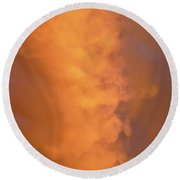 The Clouds Above Round Beach Towel