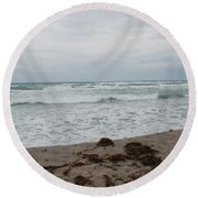 The Cold Sea Round Beach Towel