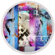 The Collage  Round Beach Towel
