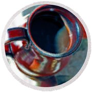 The Color Of Coffee Round Beach Towel