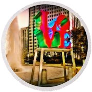 The Color Of Love Round Beach Towel