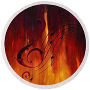 The Color Of Music Round Beach Towel