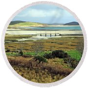 The Colors Of The Bay Round Beach Towel