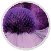 The Color Purple Round Beach Towel