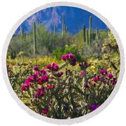 The Colorful Desert  Round Beach Towel