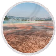 The Colorful Grand Prismatic Spring Round Beach Towel