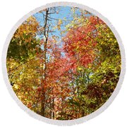 The Colors Of Autumn Round Beach Towel