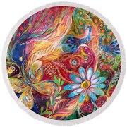 The Colors Of Spring. The Original Can Be Purchased Directly From Www.elenakotliarker.com Round Beach Towel