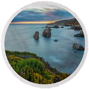 The Colors Of Summer Round Beach Towel