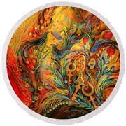 The Colors Of Sunrise Round Beach Towel