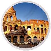 The Colosseum Round Beach Towel