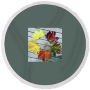 The Colours Of Autumn Round Beach Towel