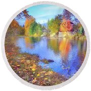 The Colours Of October Round Beach Towel