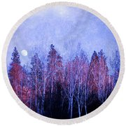 The Colours Of The Moon Round Beach Towel