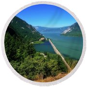 The Columbia Gorge National Scenic Area Round Beach Towel