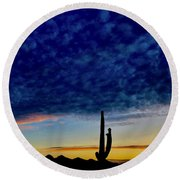 Courtship Of The Seven Sisters Round Beach Towel