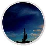 The Coming Of Light Round Beach Towel